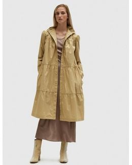 Washed Multi Tier Coat