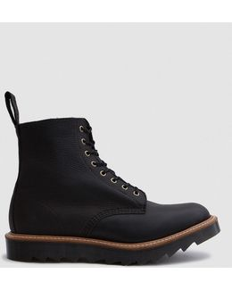 Pascal Ripple Sole 8-eye Boot In Black