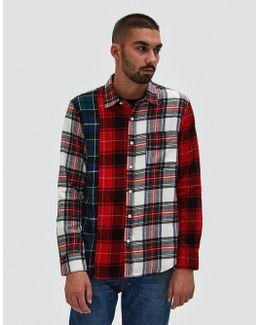 Mixed Tartan Ls Shirt