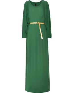 Belted Jersey Maxi Dress