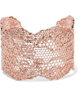 Lace Rose Gold-plated Cuff