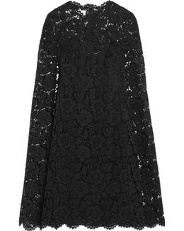 Cape-effect Lace Mini Dress