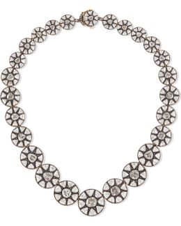 9-karat Gold, Sterling Silver And Diamond Necklace