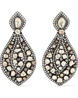 9-karat Gold, Sterling Silver And Diamond Earrings