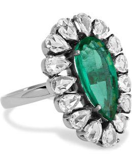 18-karat Gold, Emerald And Diamond Ring