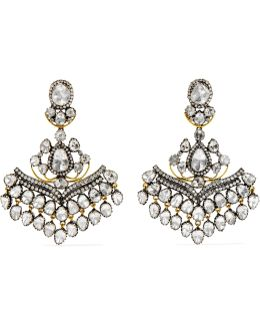 18-karat Gold, Sterling Silver And Diamond Earrings