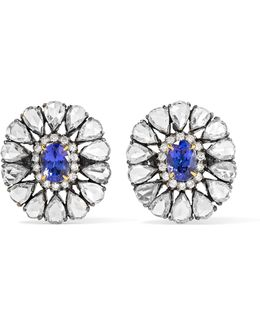 18-karat Gold, Diamond And Tanzanite Earrings