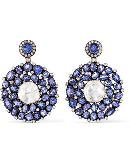 18-karat Gold, Tanzanite And Diamond Earrings