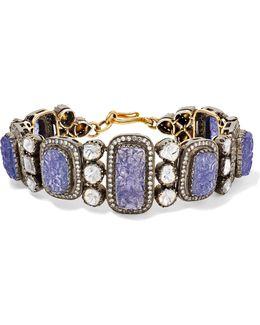 14-karat Gold, Sterling Silver, Tanzanite And Diamond Bracelet