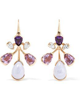 Corolla 18-karat Rose Gold Multi-stone Earrings