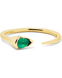 Sprout 18-karat Gold, Emerald And Diamond Ring