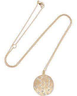 Sagittarius 14-karat Gold Diamond Necklace
