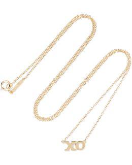 Xo 18-karat Gold Necklace
