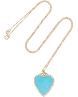 18-karat Gold, Turquoise And Diamond Necklace