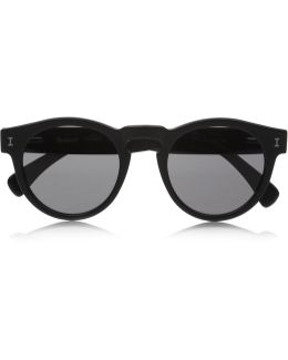 Leonard Round-frame Acetate Sunglasses