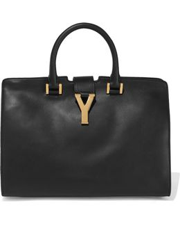 Cabas Y Leather Tote