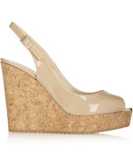 Prova Patent-leather Wedge Sandals