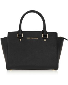 Selma Medium Textured-leather Tote