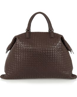 Convertible Intrecciato Leather Tote