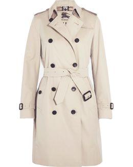 The Kensington Long Cotton-gabardine Trench Coat