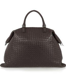 Convertible Large Intrecciato Leather Tote