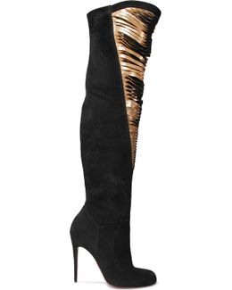 Siegfridalta 100 Suede And Metallic Leather Over-the-knee Boots