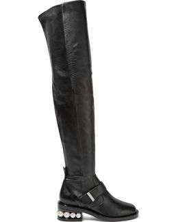 Casati Embellished Leather Over-the-knee Boots