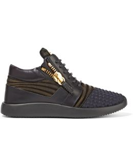 Leather, Nubuck And Faille Sneakers