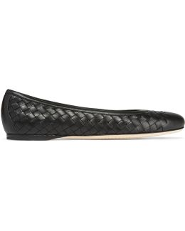Intrecciato Leather Ballet Flats