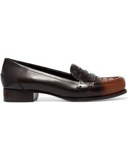 Ombré Intrecciato Leather Loafers