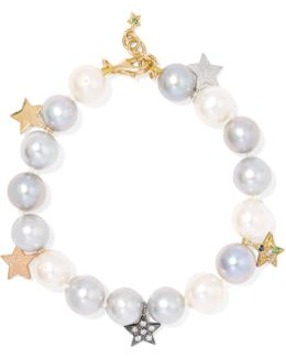 18-karat Gold, Pearl And Sapphire Bracelet