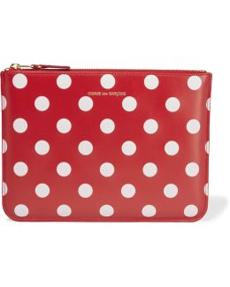 Polka-dot Leather Pouch