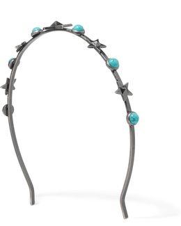 Silver-tone Turquoise Headband
