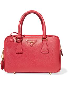 Bauletto Textured-leather Tote