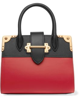 Cahier Small Two-Toned Leather Tote