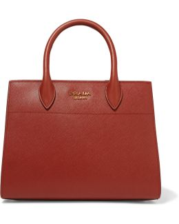 Biblioteque Textured-Leather Tote