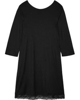 Eleonora Lace-paneled Modal And Silk-blend Jersey Nightdress