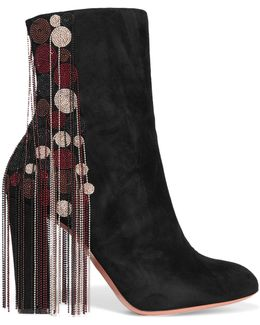Liv Beaded Suede Ankle Boots