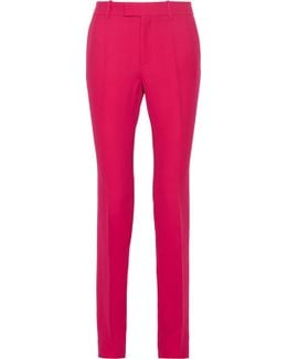 Wool And Silk-blend Crepe Straight-leg Pants