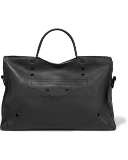 Blackout City Leather Tote Bag