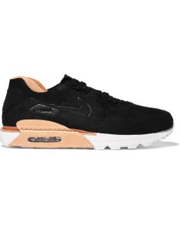 Air Max 90 Royal Suede And Leather Sneakers