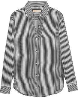 Corsican Striped Chiffon Shirt