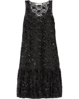 Sequin-embellished Tulle Dress