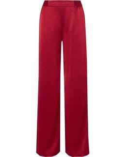 Racquel Satin Wide-leg Pants