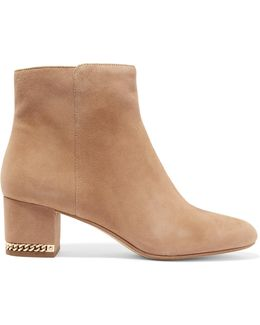 Sabrina Chain-embellished Suede Boots