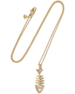 Topkat 18-karat Gold Diamond Necklace