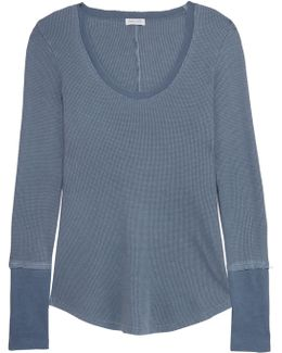 Nordic Waffle-knit Stretch Supima Cotton And Micro Modal-blend Top