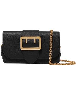 The Mini Buckle Textured-leather Shoulder Bag