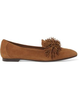 'wild' Fringe Band Suede Loafers
