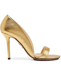 Christine Metallic Leather Pumps